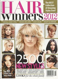 Hair Winners magazine Trends Haircolor Short cuts Layers Curls Bangs Wedding