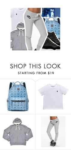 """im off the xanax$"" by pinksemia ❤ liked on Polyvore featuring MCM, Ralph Lauren and NIKE"