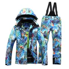 (145.50$)  Watch here - http://aipoz.worlditems.win/all/product.php?id=32789434346 - Women Ski Suit Jacket Pants snowboard Warm clothing Set Outdoor Hiking Camping Two Pieces Windproof Waterproof Winter New Suit