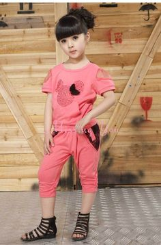 Aliexpress.com : Buy Free Shipping 2013 New Summer Children Clothes Girls Red Lace Fashion Suits Kids Clothing 2pcs Set Cotton Tops+ Half Pants GS002 from Reliable Girls Fashion Suits suppliers on COLOR