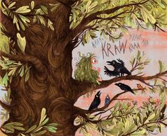 Kraw - interior illustrations from Wild by Emily Hughes