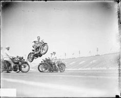 1929 soldier field Chicago,  policeman performing stunts