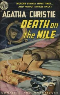 Death On The Nile by Agatha Christie. Golden Age British crime fiction, US paperback edition.