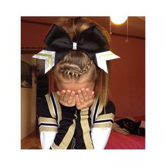 cheer hair even my hometown school colors :D