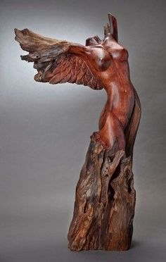 Bildergebnis für Redwood Carvings Kunst Source by Driftwood Sculpture, Art Sculpture, Driftwood Art, Wooden Sculptures, Tree Carving, Wood Carving Art, Wood Carvings, Wood Carving Patterns, Carving Designs