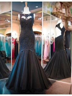 Cheap gown evening, Buy Quality custom prom gowns directly from China custom made western shirts Suppliers: New Design Mermaid Black Evening Dresses Backless Sleeveless Lace Tulle Floor Length Party Gowns vestidos de fiesta Custom Backless Prom Dresses, Tulle Prom Dress, Prom Party Dresses, Party Gowns, Mermaid Dresses, Wedding Dresses, Occasion Dresses, Lace Dress, Black Evening Dresses
