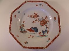 A Good Mid C18th English Bow Porcelain Japanese Kakiemon Style Plate c1760 Minor rim chips £145