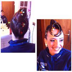 #ballroomhair  #dancehair #hairstylist #standard #updo #hair #styling #dancesport #ballroomdancing