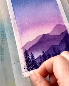 Watercolor Art Lessons, Watercolor Paintings For Beginners, Simple Canvas Paintings, Small Canvas Art, Diy Canvas Art, Beginner Painting, Watercolor Drawing, Small Paintings, Watercolor Beginner
