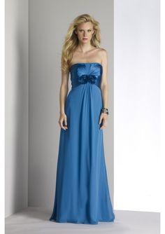 Elegant Charm Chiffon, Charmeuse Strapless A-Line bridesmaid dress