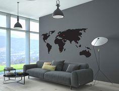 Mapa - naklejka ścienna - Szare-Kropki - Naklejki na ścianę dla dzieci