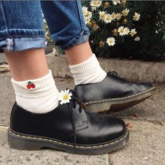 Docks and Socks: the 1461 shoe in black, shared by ermm.ily