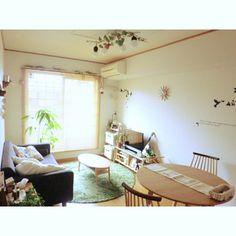 賃貸/北欧ナチュラル/北欧インテリア/北欧/カフェ風/二人暮らし…などのインテリア実例 - 2015-02-08 04:30:55 | RoomClip(ルームクリップ) Small Room Decor, Decorating Small Spaces, Japanese Interior, Japanese House, Small Apartments, House Rooms, Home Bedroom, My Room, House Design