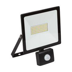 - LED Floodlight (with Sensor) Black Interior Styling, Interior Design, Light Sensor, Outdoor Lighting, Lighting Design, Design Inspiration, Led, Storage, Black