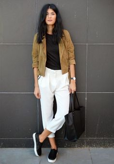 Street-Style-Slip-On-White-Pants