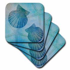 Ceramic Coasters Starfish House Decor Home Decor Decoupage - Beach themed ceramic tile