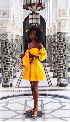 black girls in yellow dress ~ girls yellow dress Black Girl Fashion, Look Fashion, Fashion Outfits, Womens Fashion, Kids Fashion, Yellow Fashion, Black Girl Magic, Black Girls, Ebony Girls