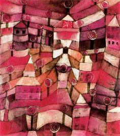 """Roseraie"", 1920 de Paul Klee (1879-1940, Switzerland)"