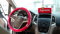 Supreme Car Steering Wheel Cover Artificial leather only $28