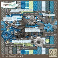 Moody Blues: Scrapkit by Jen C Designs @ gottapixel.net   $5.99