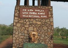 Entrance of Yala National Park, Sri Lanka