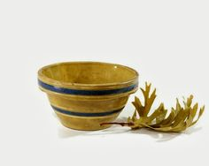 Vintage Yellowware Bowl on Common Ground: The Marketplace: Etsy and Online Boutique Showcase