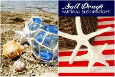 Doing this for the beach house Christmas wreath. Bird's Party Blog: TUTORIAL: DIY Nautical Party Decor - How To Make Salt Dough Starfish!