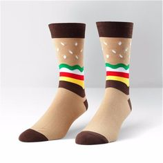 Sock It To Me Mens Crew Burger Socks