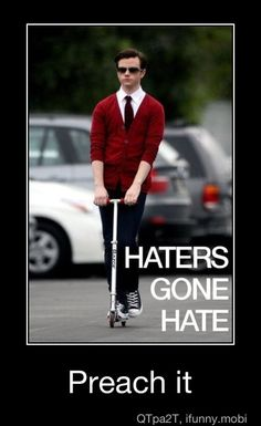Glee Cast Having Fun: ohnotheydidnt Chris Colfer, Glee Puck, Blaine And Kurt, Glee Fashion, Men's Fashion, Glee Memes, Glee Club, Darren Criss, Best Tv