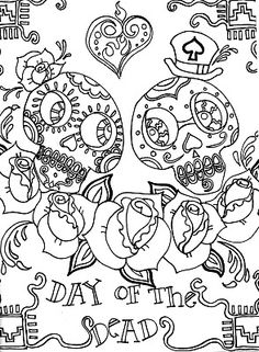 10 page Day of the Dead activity plan with 6 really cool drawing pages for your child/student @ Modern Art 4 Kids