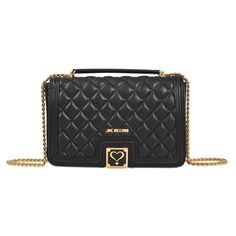 29bf901e5 LOVE MOSCHINO Quilted Flap Bag. #lovemoschino #bags #leather # Moschino,  Chanel