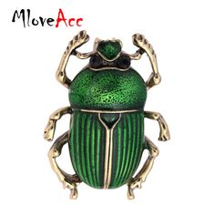 MloveAcc Vintage Jewelry Beetle Brooches for Women Kids Enamel Green Fleur De Lis Animal Insects Brooch For Jewelry Hijab Pins //Price: $14.40 & FREE Shipping //     #hashtag2