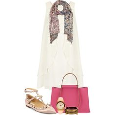 A fashion look from September 2013 featuring Topshop dresses, Valentino flats and Hermès handbags. Browse and shop related looks.