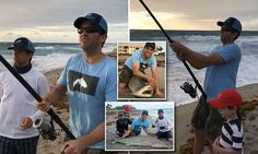 How fitting 🤡 Donald Trump Jr filmed reeling in shark off Florida beach | Daily Mail Online