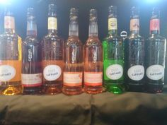 Tasting Giffard Liköre for new Cocktails #Giffard