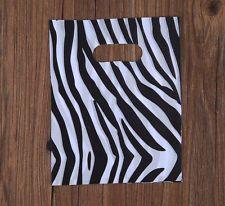 45pcs 20x15cm Christmas Party Supplies Shopping Plastic Gift Bag Zebra Stripe