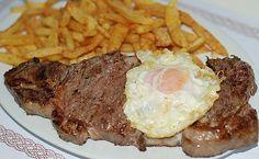 Steak And Eggs, Breakfast, Potato Fry, Potatoes, Salad, Peanuts, Steak Recipes, New Recipes, Beverage