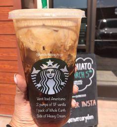 it's under $4 ;) Dairy Free Starbucks Drinks, Secret Starbucks Drinks, Starbucks Secret Menu, Starbucks Recipes, Starbucks Coffee, Coffee Recipes, Secret Menu Items, Keto Drink, Coffee Drinks