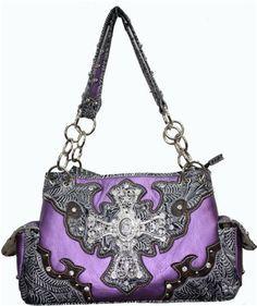 western mossy oak purses purple | Brown mossy oak licensed camo western purse messenger rhinestone cross ...