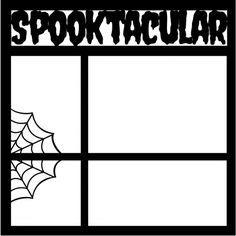 "Spooktacular-12"" X 12"" Laser Die Cut Scrapbook Overlay"