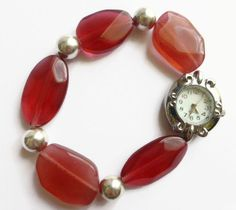 Ladies bracelet watches red fashion watch by HanoverMerryMakers