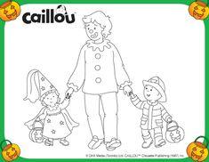 Caillou Trick or Treats – Coloring Sheet