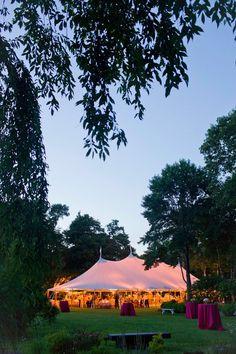 sperry tent wedding ♥