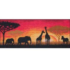 African Horizon, Kit à broder au point de croix point compté sur toile Aïda 6:
