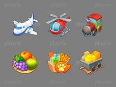 Township icons designed by Playrix. Connect with them on Dribbble; Game Icon Design, Ui Buttons, Game Props, Game Concept Art, Game Item, Art Icon, Game Ui, Machine Design, Art Object