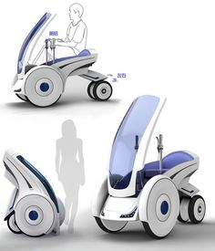 Space Saving Urban Ev Folding Electric Vehicle Single Seat Pod Car