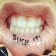 The Lip Tattoo Trend - Fabulous or Simply Crazy?  Whether you are interested in getting one or just interested in learning about their technique, this Lip Tattoo gallery is sure to make you smile!