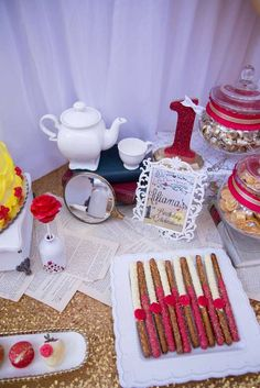 Belle / Beauty and the Beast Birthday Party Ideas | Photo 5 of 9