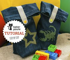 Tutorial: Jeans-Upcycling Allzwecktasche