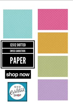 10 Sheets 12x12 Pink Coredinations Smooth Solid Cardstock